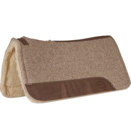 Mustang Tan Wool Contoured with Fleece Bottom Pad