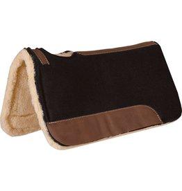 Mustang Black Felt Contoured Fleece Bottom Pad