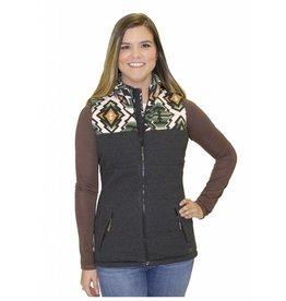 Powder River Outfitters Powder River Women's Black Aztec Yoke Vest