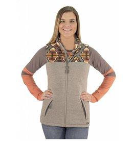 Powder River Outfitters Powder River Women's Grey Aztec Yoke Vest