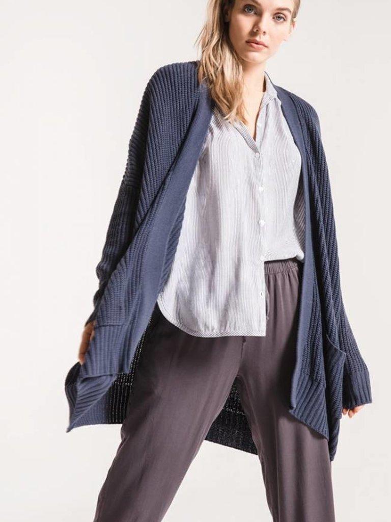 Ander Oversized Knit Cardigan - Mood Indigo 25b9a0783
