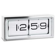 LEFF Amsterdam Brick clock stainless steel 24h