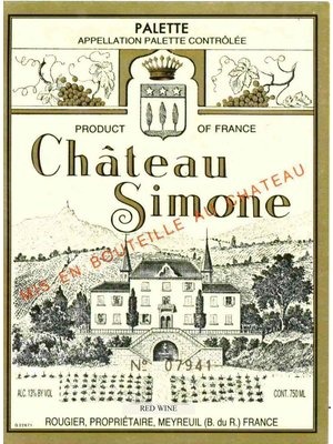Wine CH SIMONE PALETTE ROUGE 2010