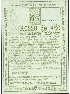 Wine PAOLO BEA MONTEFALCO ROSSO 'ROSSO DE VEO' 2011