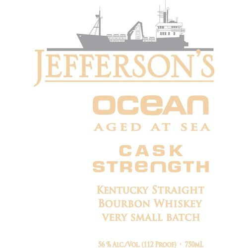 Spirits JEFFERSON'S OCEAN 'AGED AT SEA' VSB CASK STRENGTH  BOURBON