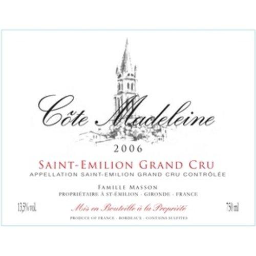 Wine COTE MADELEINE GRAND CRU SAINT EMILION 2006