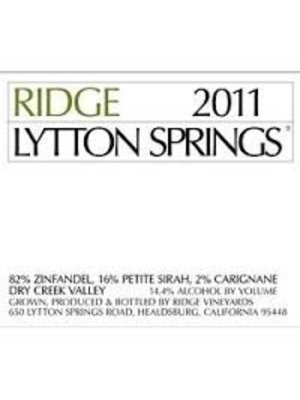Wine RIDGE 'LYTTON SPRINGS' 2016