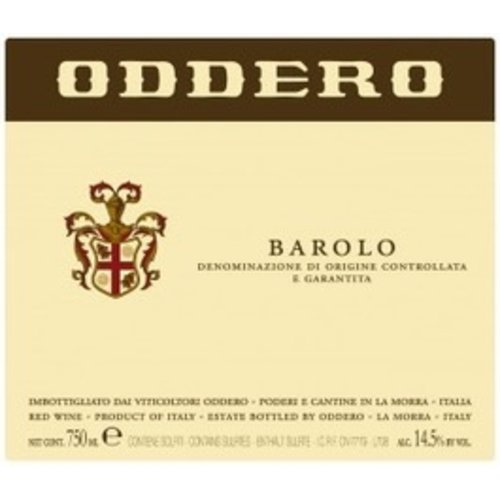 Wine ODDERO BAROLO 2012 5L