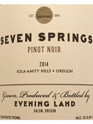 Wine EVENING LAND PINOT NOIR SEVEN SPRINGS VINEYARD 2015