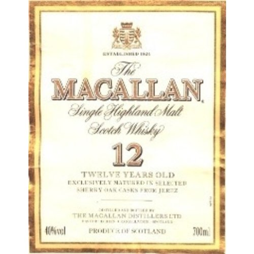 Spirits MACALLAN 12YR SCOTCH WHISKY