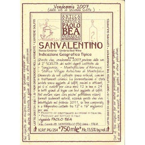 Wine PAOLO BEA MONTEFALCO ROSSO 'SAN VALENTINO' 2011