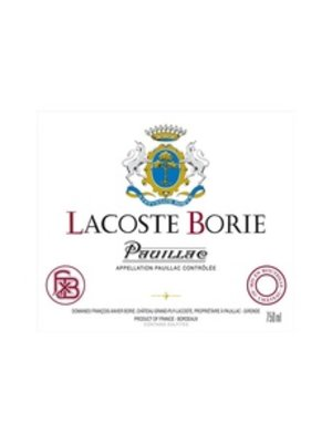 Wine CH LACOSTE-BORIE PAUILLAC 2015
