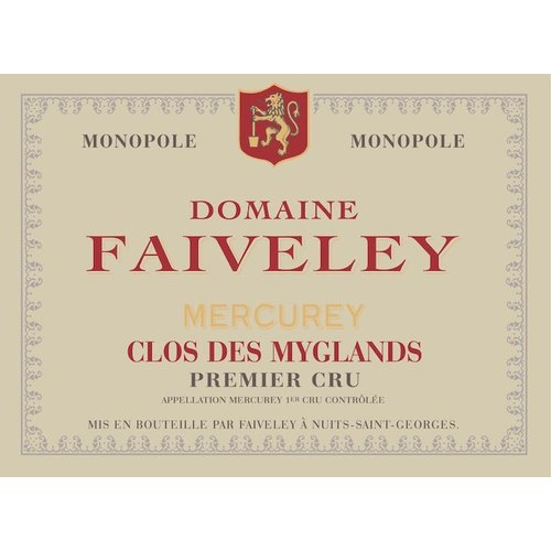 Wine FAIVELEY MERCUREY 'CLOS DES MYGLANDS' 1ER CRU 2016