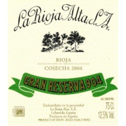 Wine LA RIOJA ALTA '904' GRAN RESERVA 2009