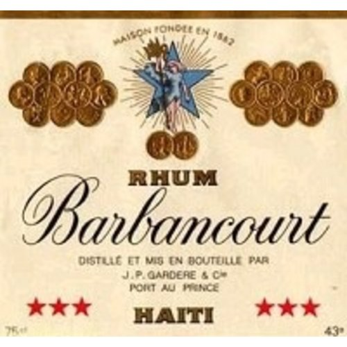 Spirits RHUM BARBANCOURT 3 STAR 4YR