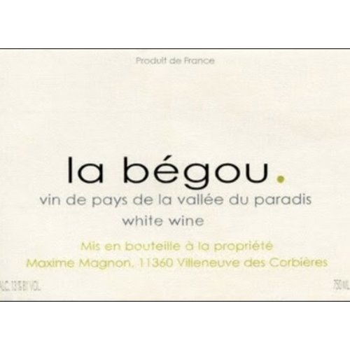 Wine MAXIME MAGNON CORBIERES 'LA BEGOU' BLANC 2011