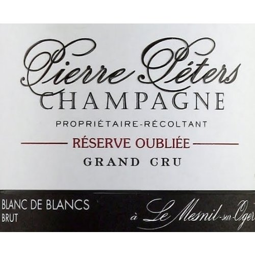 Sparkling PIERRE PETERS BRUT CHAMPAGNE RESERVE OUBLIEE GRAND CRU NV