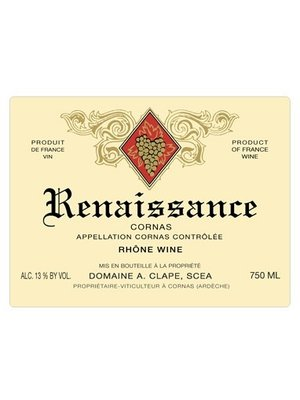 Wine AUGUSTE CLAPE CORNAS 'CUVEE RENAISSANCE' 2013
