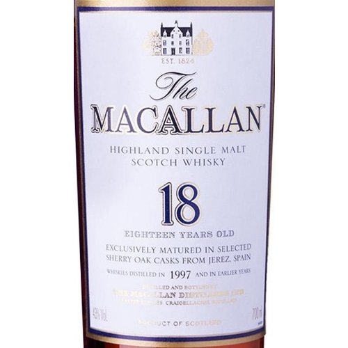 Spirits MACALLAN 18YR SCOTCH WHISKY