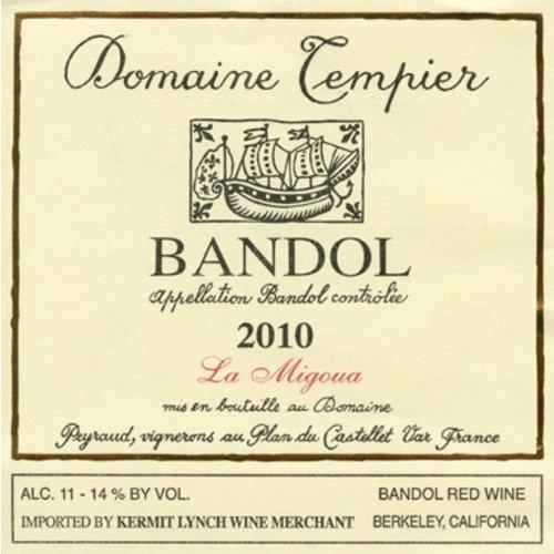 Wine DOMAINE TEMPIER BANDOL 'LA MIGOUA' 2013