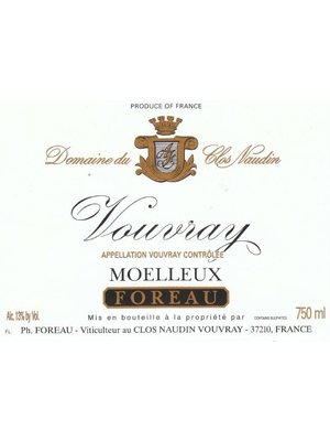 Wine PHILIPPE FOREAU VOUVRAY 'CLOS NAUDIN' MOELLEUX 1999
