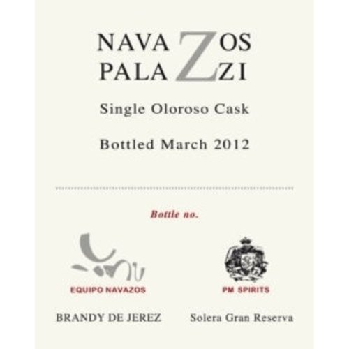 Spirits NAVAZOS-PALAZZI SINGLE CASK OLOROSO BRANDY 375ML