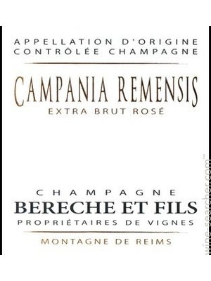 Sparkling BERECHE ET FILS EXTRA BRUT ROSE 'CAMPANIA REMENSIS' CHAMPAGNE 2014