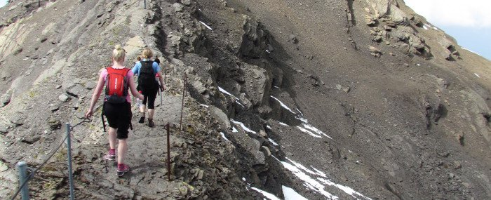 Climbing Gimmewald in Switerland