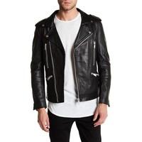 Cow leather biker jacket Style: 60-15501
