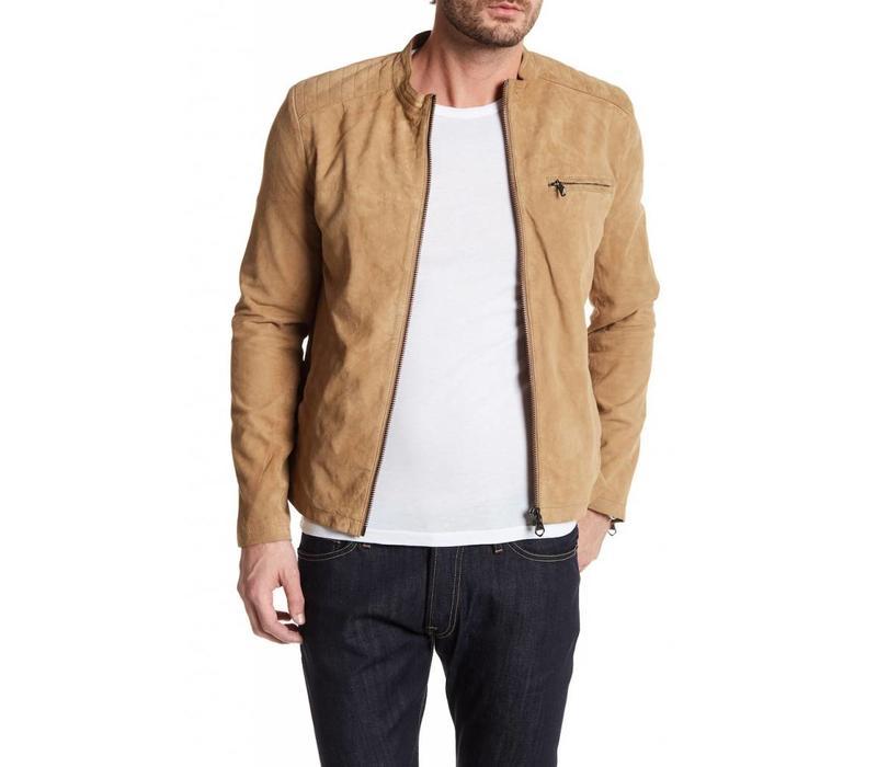 Suede biker jacket Style: 30-10044