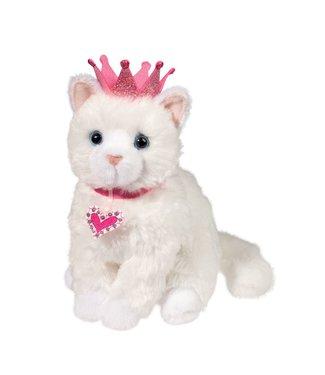 """Douglas Duchess White Cat w/ Crown - 8"""""""