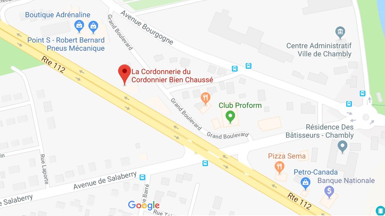 Localisation du Cordonnier Bien Chaussé