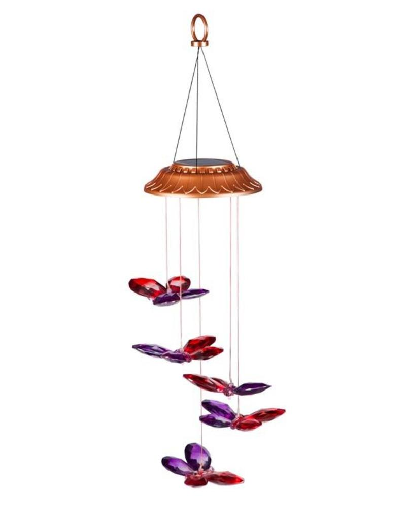 Color Changing Faceted Butterflies Solar Mobile