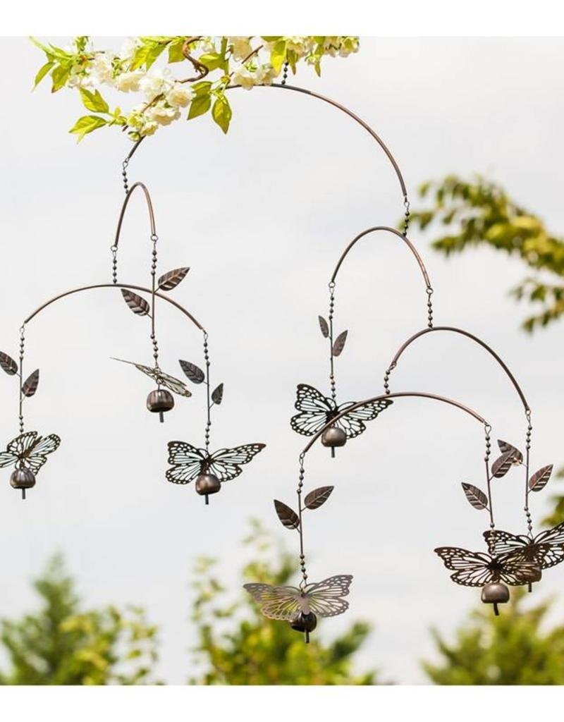 Metal Butterfly Mobile And Bell Chimes