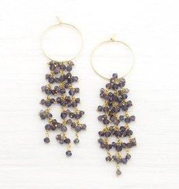 Earrings - Beaded Kyanite