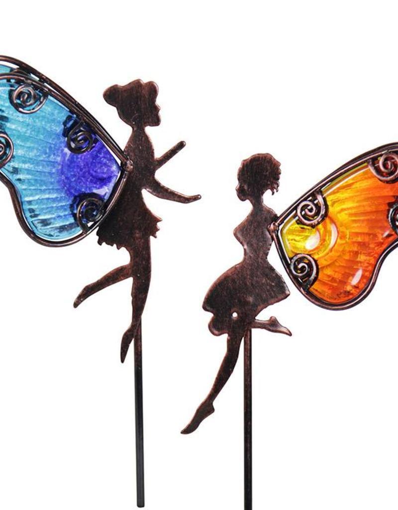Bronze & Glass Fairy Pot Stakes