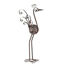 Bird Statue - 28 Inch Bronze Filigree Bird