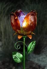 Solar Flower Garden Stake - Orange