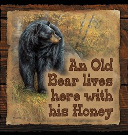 An Old Bear Lives Here - Sign