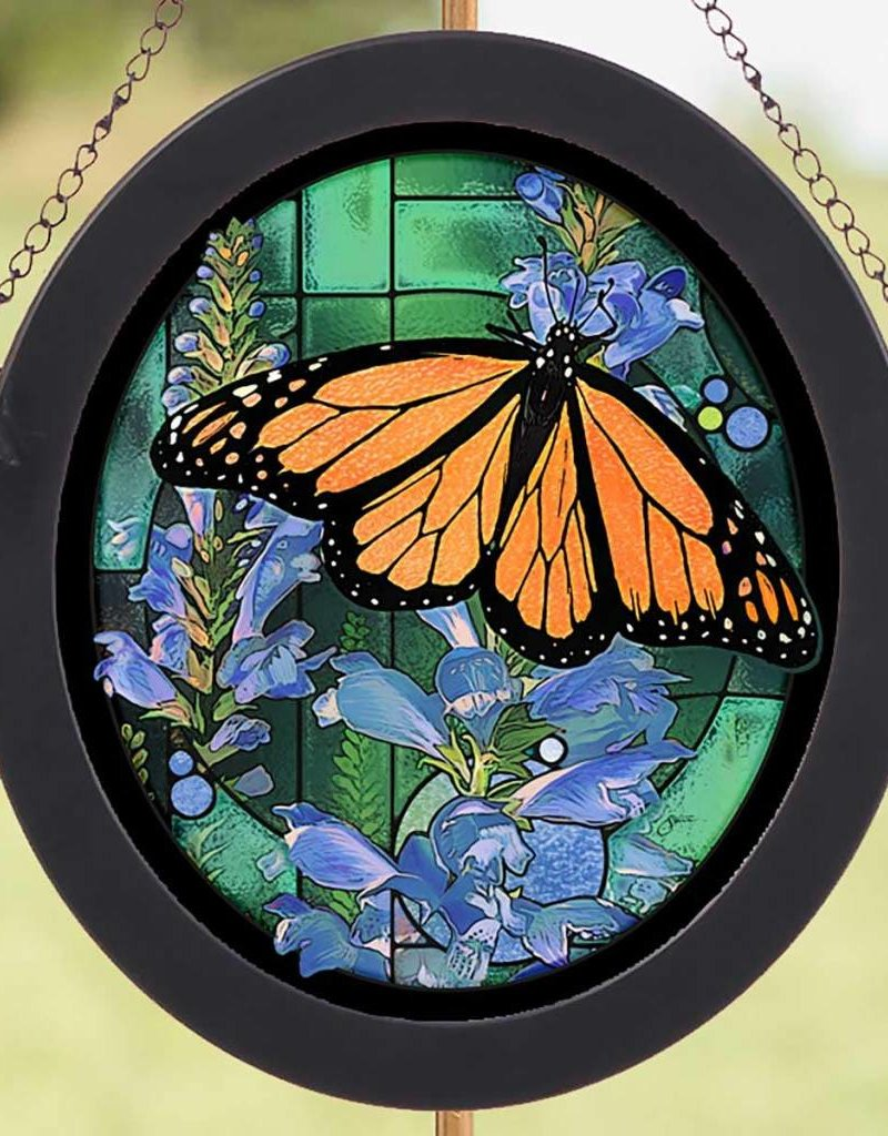 Monarch Butterfly Stained Glass Art by Scot Storm