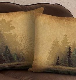 """Rustic Forest - 18"""" Decorative Pillow"""