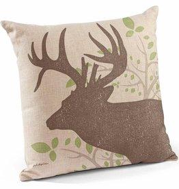 "Whitetail Deer 18"" Decorative Pillow"