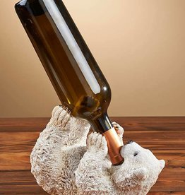 Polar Bear Wine Bottle Holder and Bank Combo