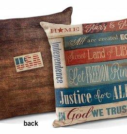 """Patriotic Collage 18"""" Decorative Pillow"""