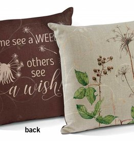 """See a Wish 18"""" Decorative Pillow by Susan Bourdet"""