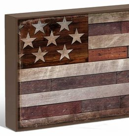 "United States of America Flag 12"" x 16"" Box Art Sign"