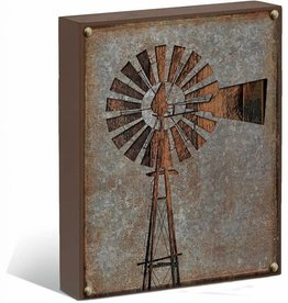 "Windmill Silhouette 12"" x 16"" Box Art Sign"