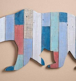 Slat Wood Wall Decor - Bear