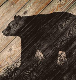 "Wood Wall Art - Bear Silhouette 18"" x 30"""