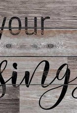 """Count Your Blessings 12"""" x 30"""" Wood Sign"""